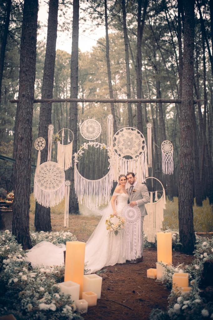 decoração de filtros dos sonhos em casamentos ao ar livre